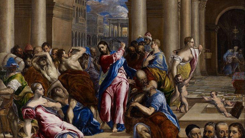 Христос изгоняет торговцев из храма. Эль Греко