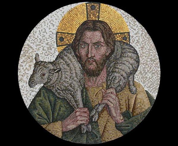 Мозаика добрый Пастырь Визанция